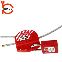 Red stainless safety retractable cable lock