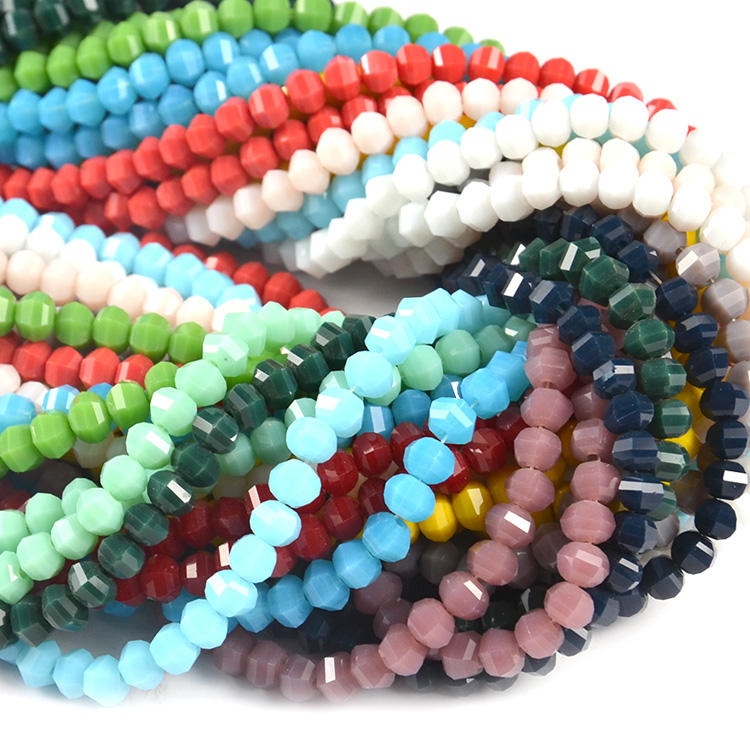 new fashion DIY jewelry good quality lampwork glass bead mix color crystal glass bead curtain