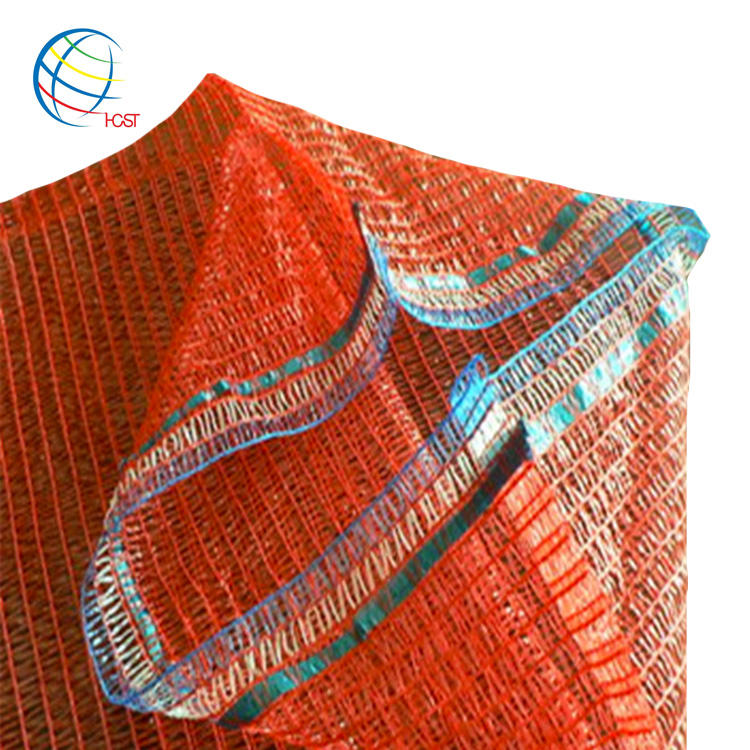 manufacturer raw material red woven polypropylene fruit vegetables sacks raschel pp leno onion mesh potato bags for sale
