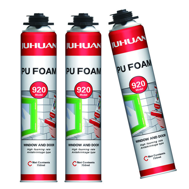 Juhuan 750ml cheap polyurethane foam waterproof expansion 50-60L