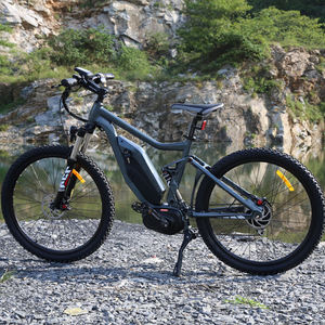 Kuake High Speed 26 inch 48V 750W Bafang Mid Drive Full Suspension Electric Mountainbike for Adults