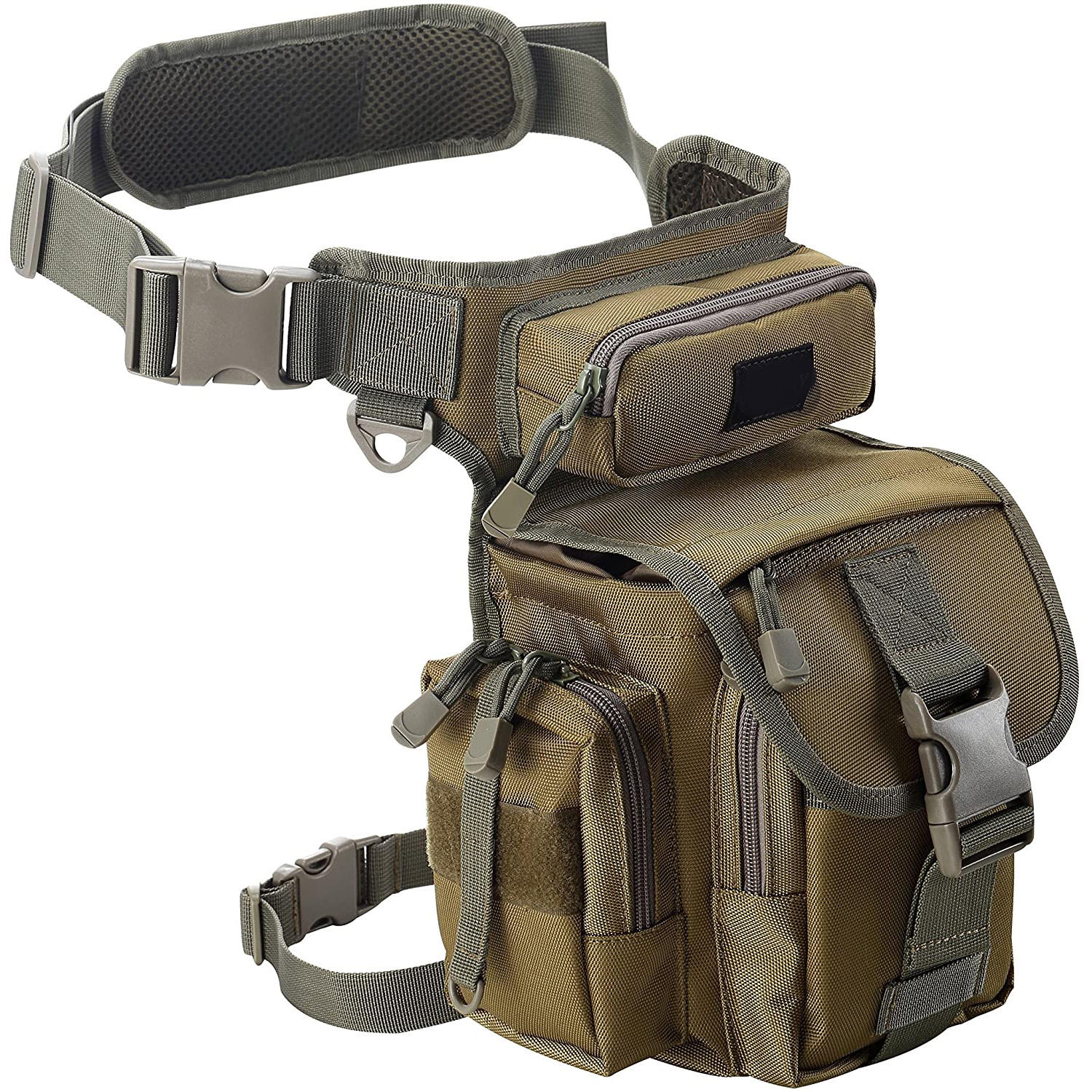 Tactical Military Thigh Hip Outdoor Pack for Motorcycling Hiking Traveling Fishing Tool Pouch Multifunctional Drop Leg Waist Bag