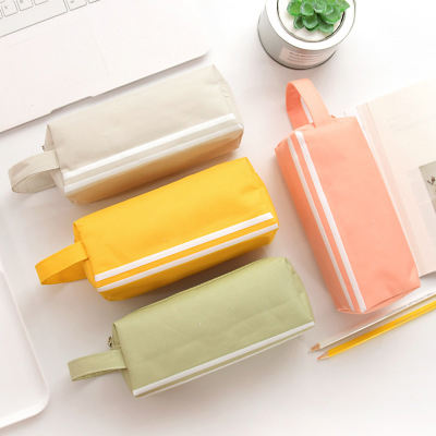 factory wholesale eco pen pouch multifunctional canvas school student pencil case
