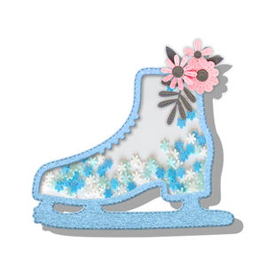 Ice skates cutting dies for scrapbooking art and craft
