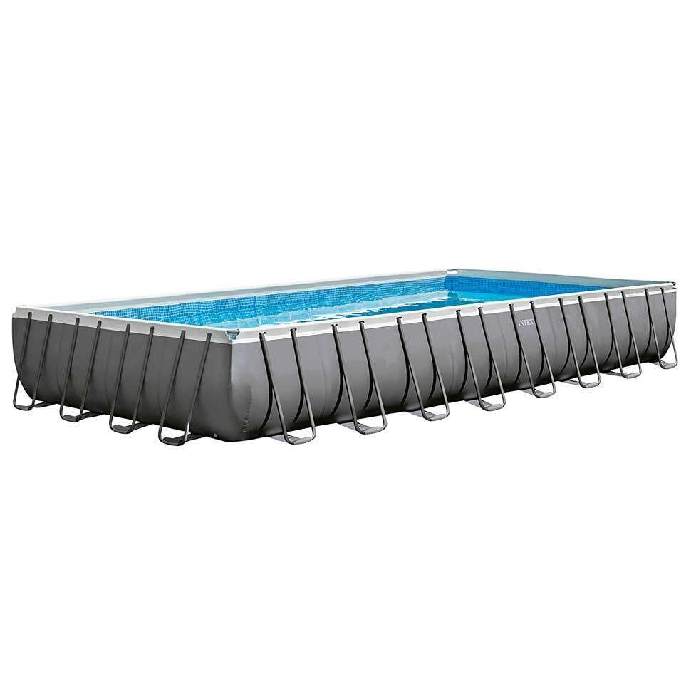 Portable pvc inflatable Rectangular Metal Frame Swimming Pool