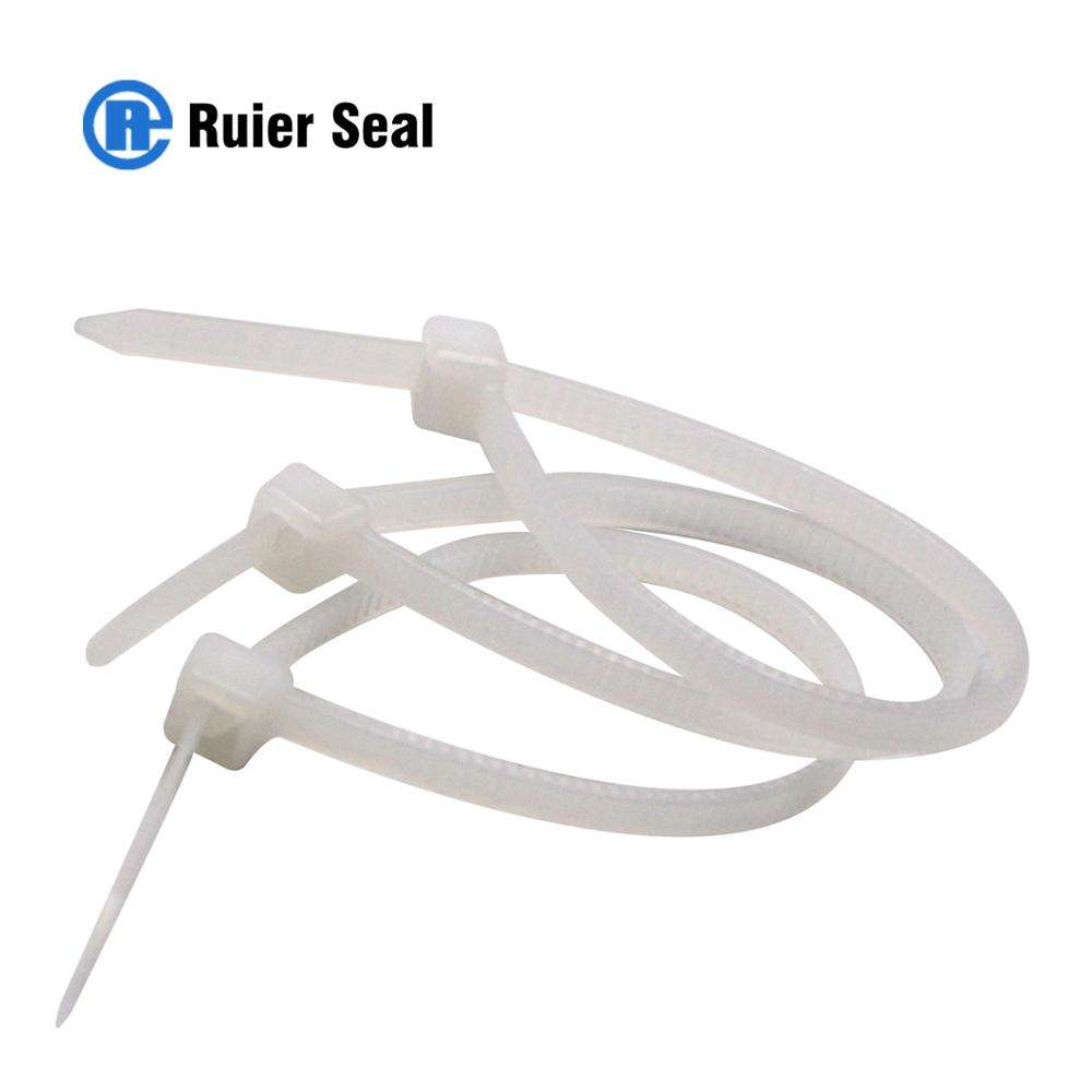 300 Pcs 200Mm Nylon Reusable Adjustable Snap Tie Lock Pin Security Loop Plastic