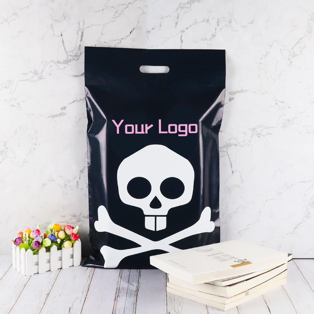double self adhesive handle poly mailer bag custom mailing plastic pouch post shipping for packaging clothing gift