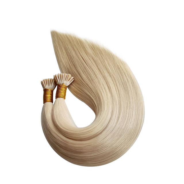 Wholesale double drawn i tip/stick tip/micro link hair extension human hair remy prebonded human hair extensions