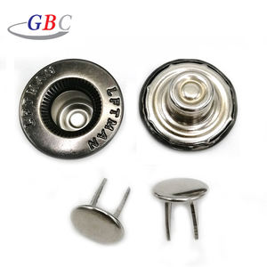 18mm double prong metal denim jeans button for jeans