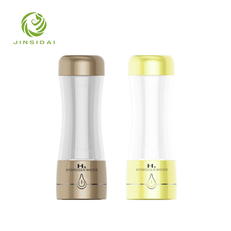 350ml alkaline environmental friendly plastic water bottle to make hydrogen H2 water with times to drink