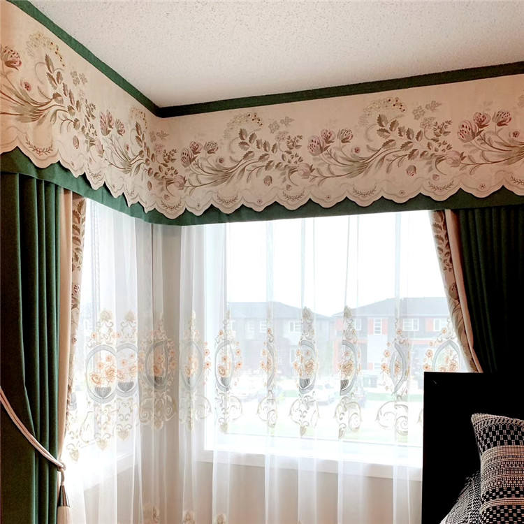 Wholesale Luxury Polyester Curtain Manufacturer Living Room Decoration