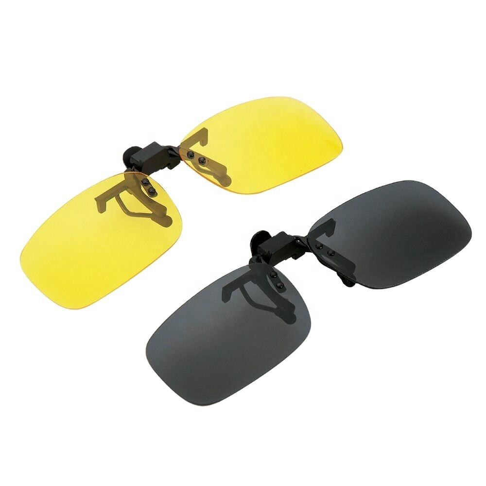 2020 Hot Sale Car Driver Anti-UVA UVB Polarized Sun Glasses Driving Night Vision Lens Clip On Sunglasses Interior Accessories