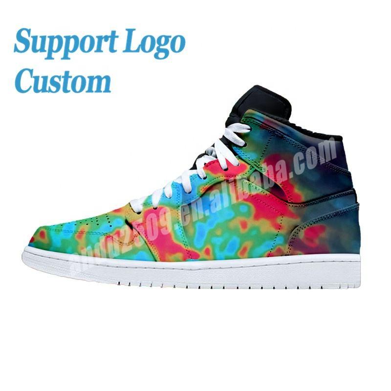 High Top Men Basketball Shoes Custom Logo Design Custom Shoes Genuine Leather Retro Chicago Men Sport Shoes