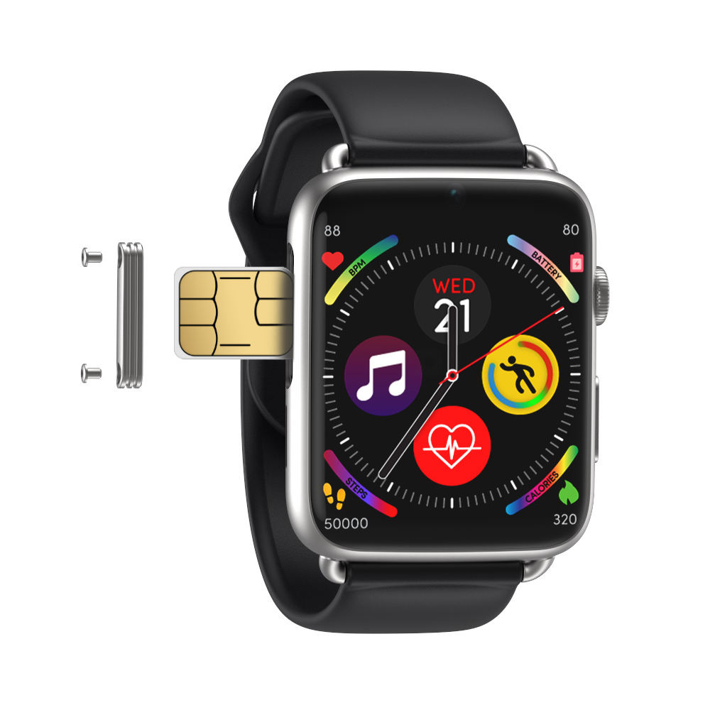 DM20 NANO SIM card 4G support customizable Wifi bluetooth magnetic charging gps action camera smart watch