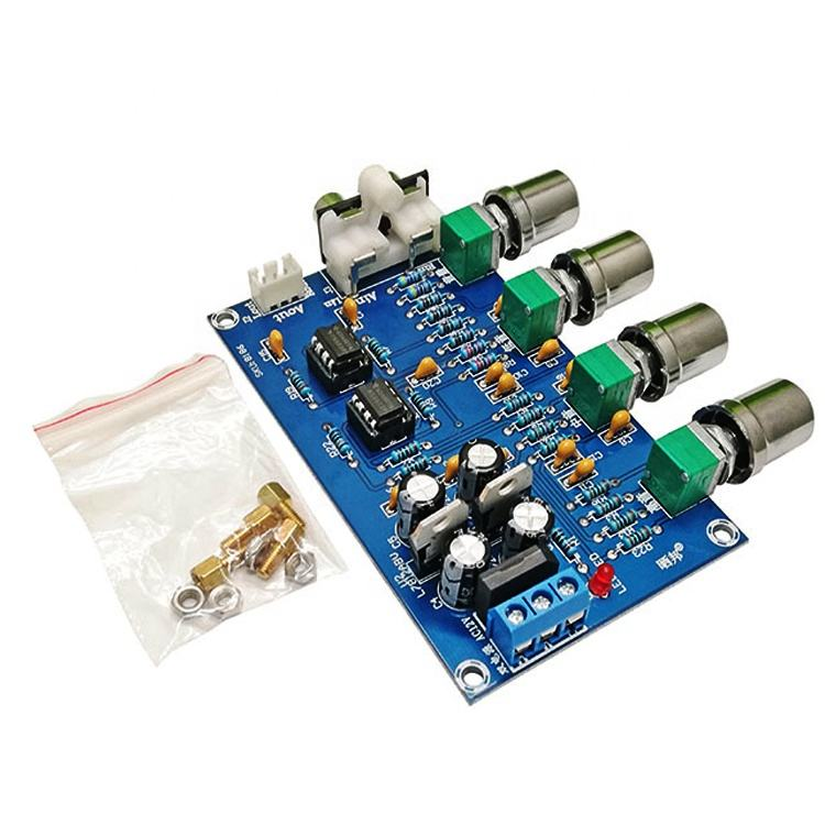 UWorld Power Supply Dual Channel Audio Amplifier Board 4 Way Adjustment HiFi NE5532 Tone Amplifier Board Preamplifier