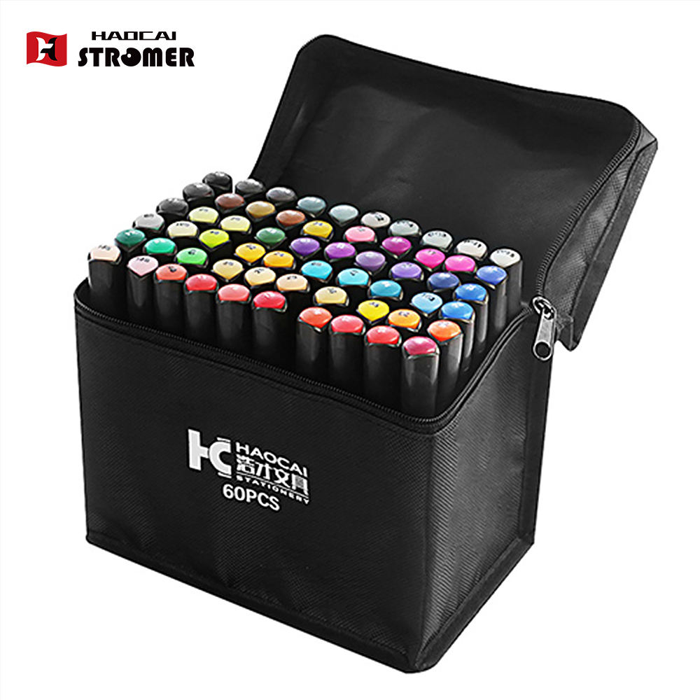 168 colors art sketch dual tip office working markers set
