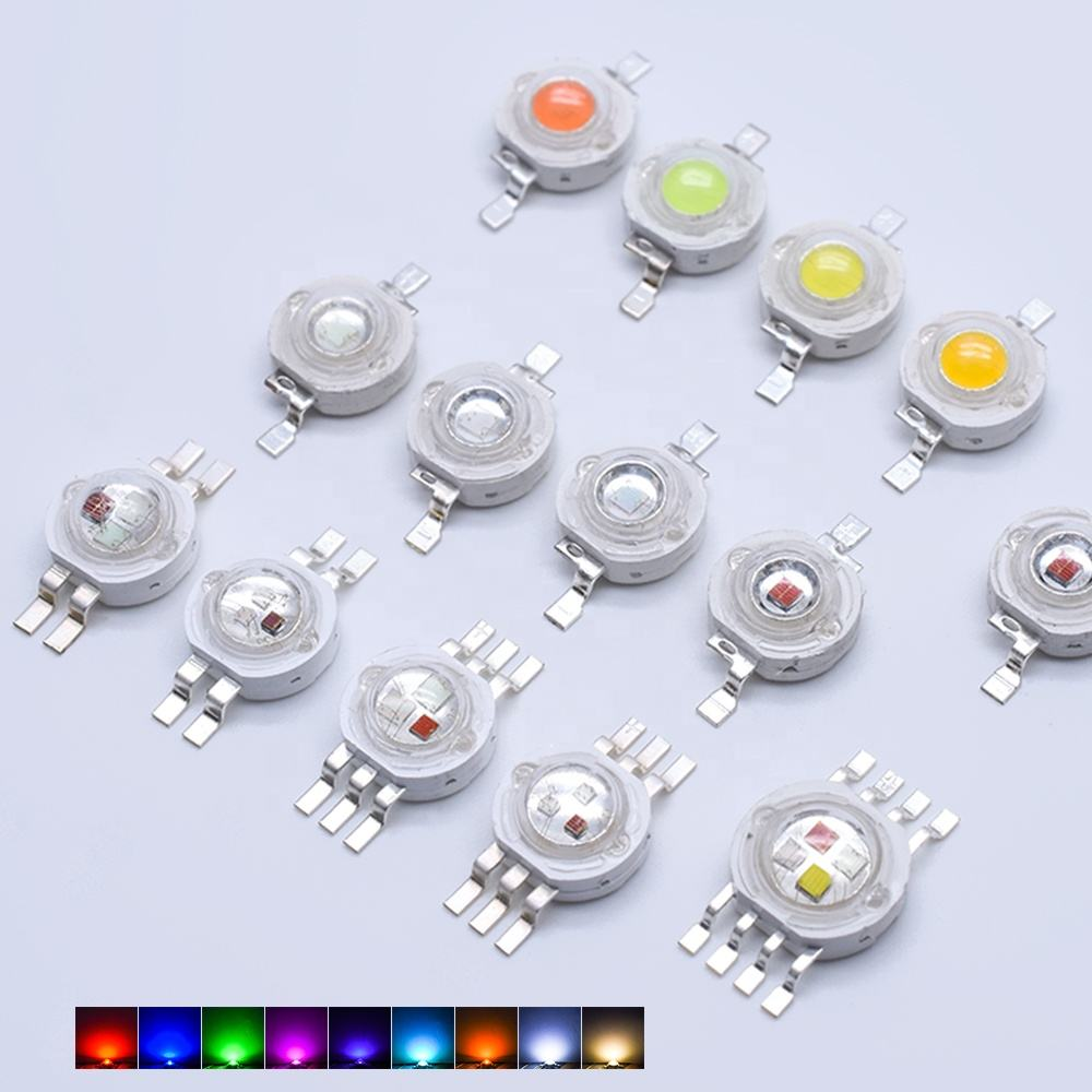 Wholesale Led Light 1W 3W 5W High Power 4000k 6500k Pure Red Blue Pink Green Warm White RGB 3 Watt 3v Epistar Chip Led Light