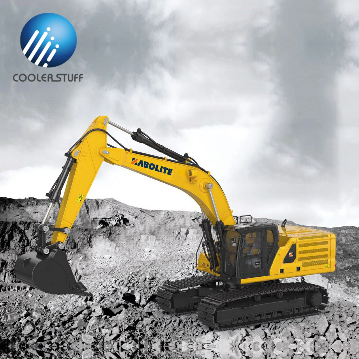 Huina 336 336GC KABOLITE K336 1:16 RC hydraulic excavator toy zinc alloy rc hobby construction truck digger machinery
