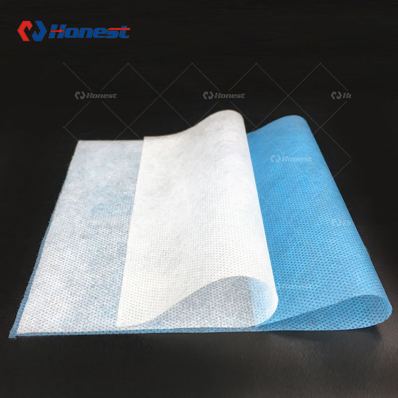 Non-woven Fabric Material In-Stock Items Wholes Plain Spunlace Nonwoven