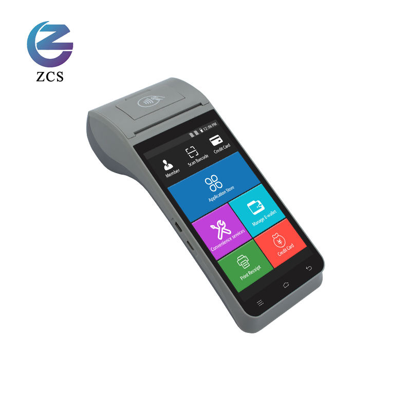 High Quality Z91 Android 9.0 Handheld Android 4G EFT POS Terminal with Printer, Barcode Scanner PDA, POS NFC Reader