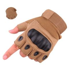 Camouflage Cloth shell half finger Men's Half Finger Gloves