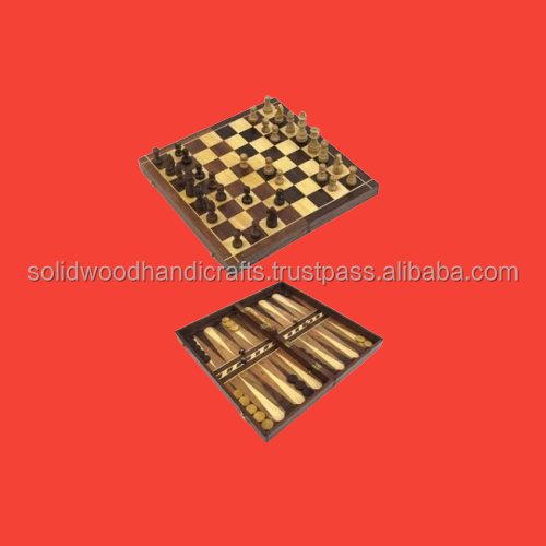 WOODEN HANDICRAFTS WOODEN CHESS GAME WOODEN GIANT CHESS YARD BOARD GAME FOR KIDS&ADULTS