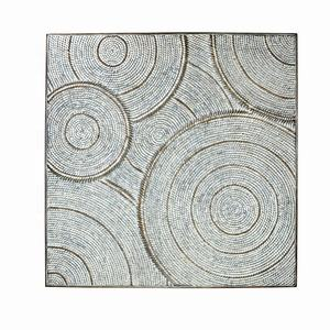 IVY Interior Home Decorations Modern Embossed Metal Wrought Iron abstract wall art for living room