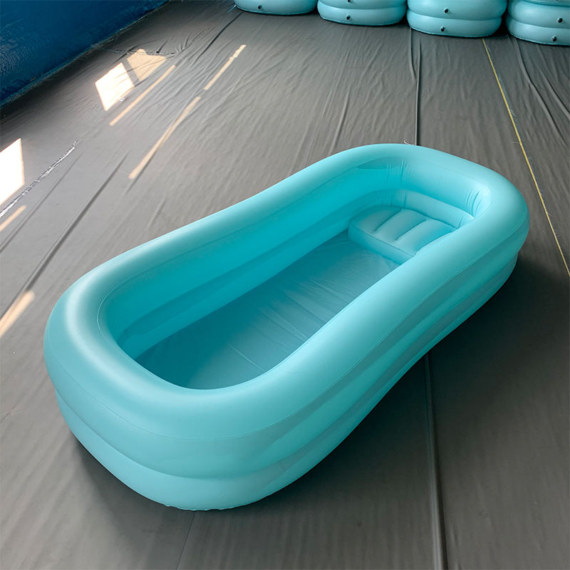 high quality inflatable bed bath folding plastic inflatable air medical bathtub in bed inflatable patients bed bath tub