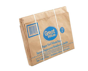 M-fold side food grade recyclable restaurant kraft paper bag biodegradable garbage bag