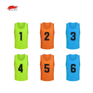 Wholesale 2020 Custom Pinnies Jerseys High Quality mesh numbered sports bibs Hot Selling Team Soccer Training Bibs football vest