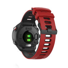 For Garmin Forerunner 245 two-color silicone strap watch strap sports silicone strap men's wrist strap replaceable strap