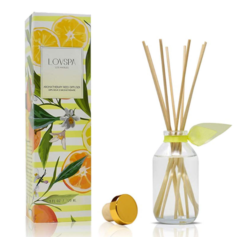 Home fragrance essential oil glass jar reed diffuser for gift set