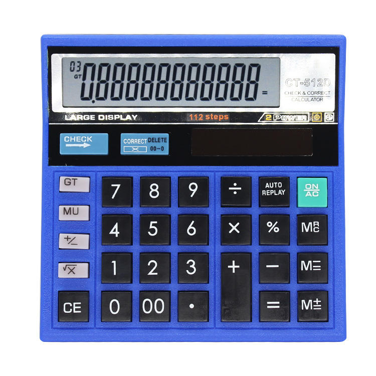 Good Quality Fashion Large Print 120 Steps Check Office Desktop Calculator