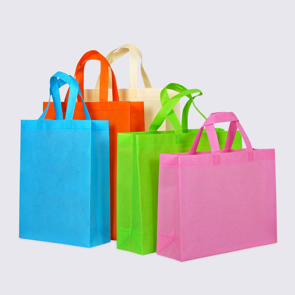 Promotional Customized handle style eco-friendlynon-woven fabric bag non woven shopper tote bag