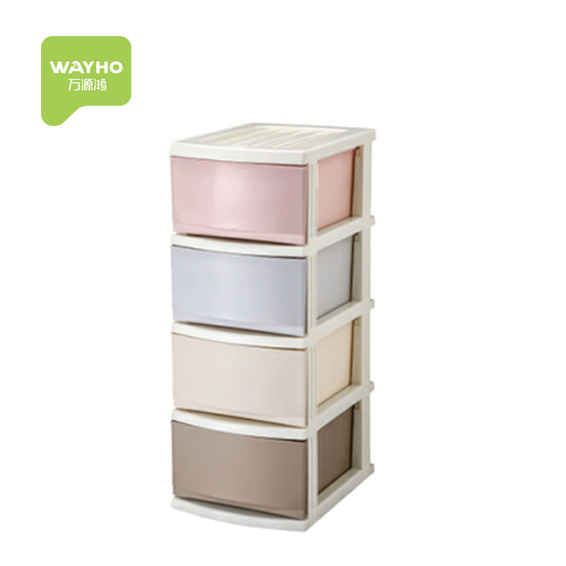 High quality plastic combined drawer storage cabinet for clothing