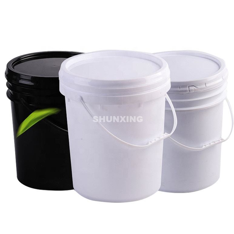 Factory Food Grade 10L Plastic Square Bucket With Lid and Handle