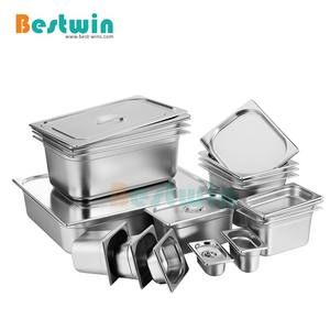 EU Style All Size Anti-Jam Stainless Steel Steam Table Pan Gastronorm Container Hotel GN Food Pan