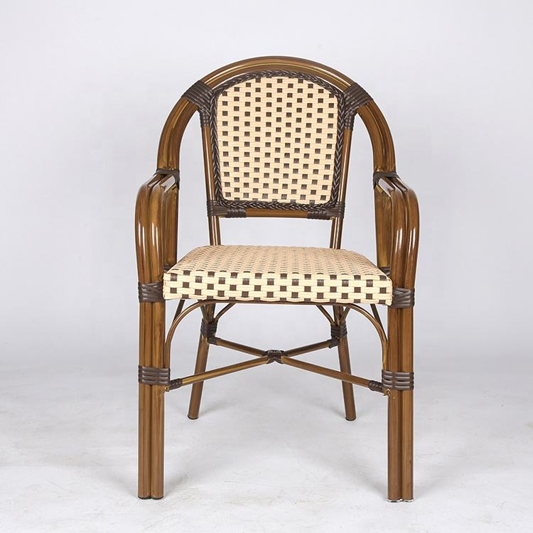 Vintage furniture outdoor French rattan bistro chairs (SP-OC426)
