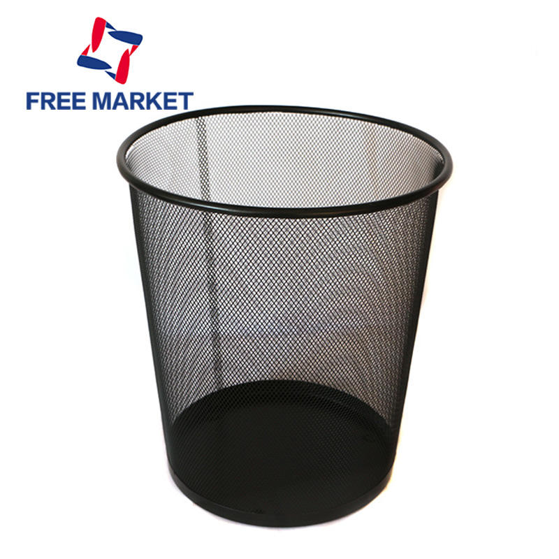 wire mesh metal dustbin waste basket indoor high quality