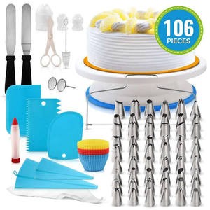 Turntable kit cake decorating stand icing piping tips Cake decoration Cake tools set