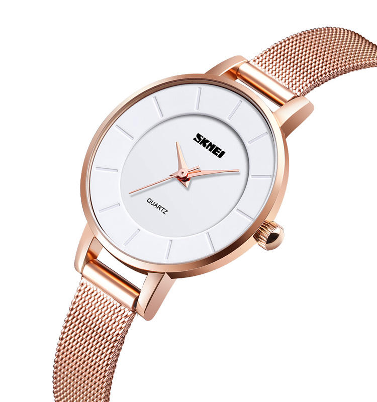Skmei 316 Stainless Steel Case Good Quality Q021 Luxury Quartz Watches Japan Movt Wrist Watch for Women