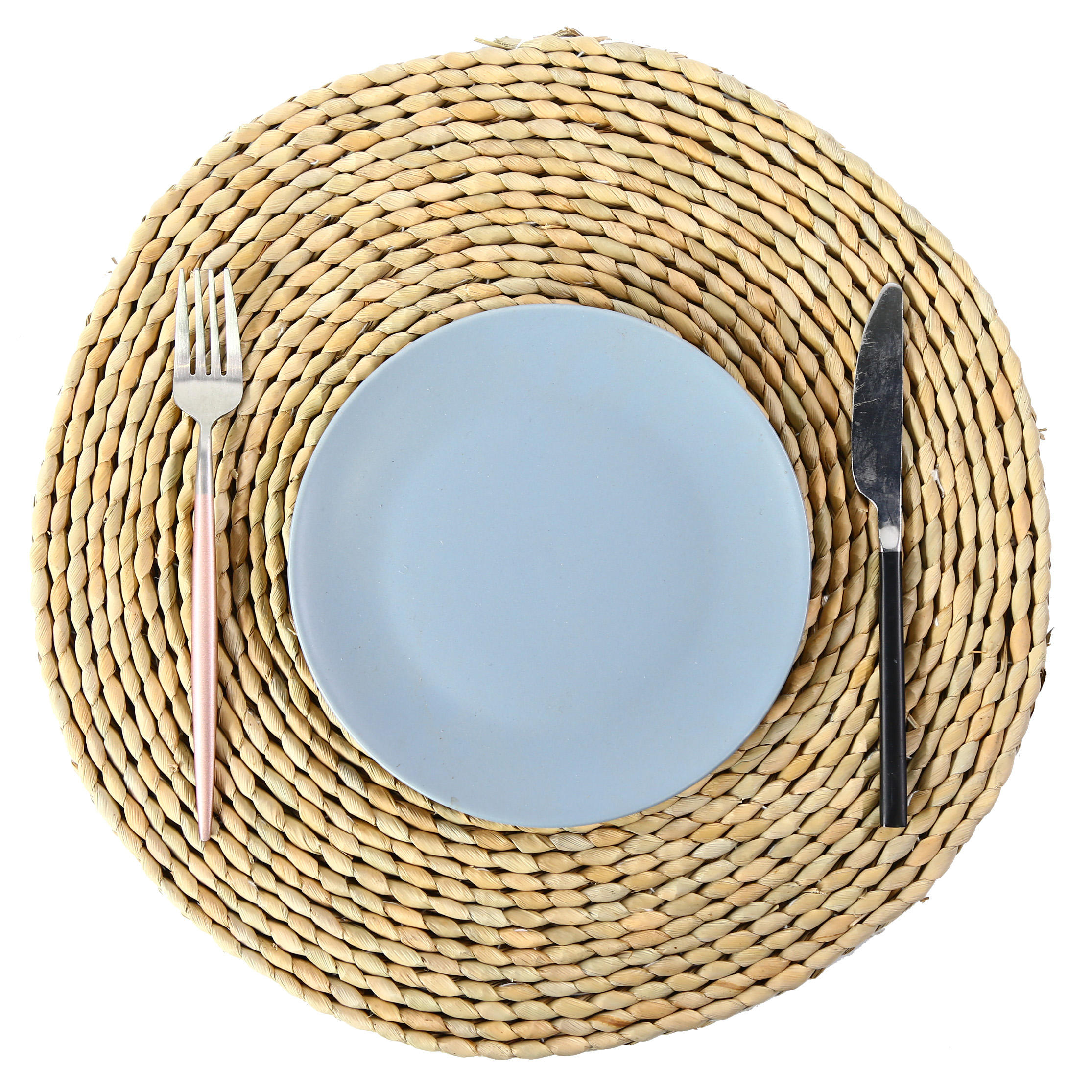 Tabletex 2020 New Design Natural type Placemat, handmade straw woven round Table Mat