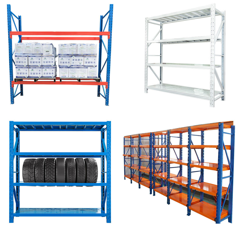 Heavy Duty Rack Warehouse Steel Racking Units Industrial Shelving Boltless Storage Garage Shelving/Estanteria