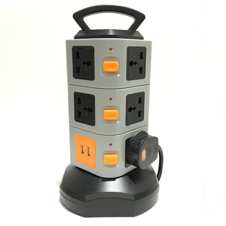 Electrical Power 250V 13A UK BS Extension Socket Plug with Surge Protection