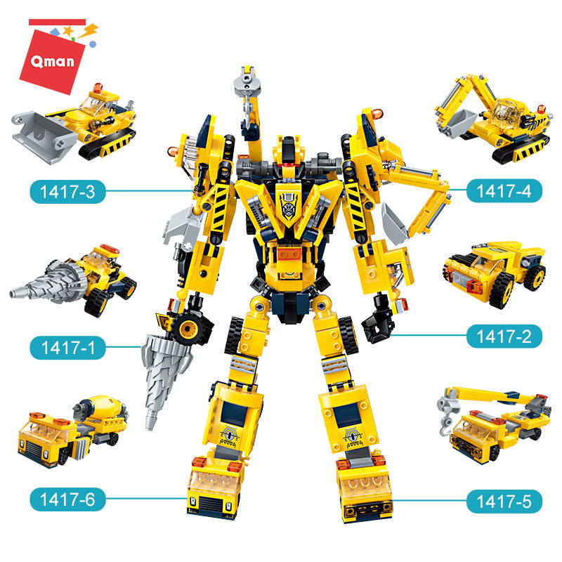 DIY Building Bricks Creative Trasforming Mecha Education Plastic Toys For Kids