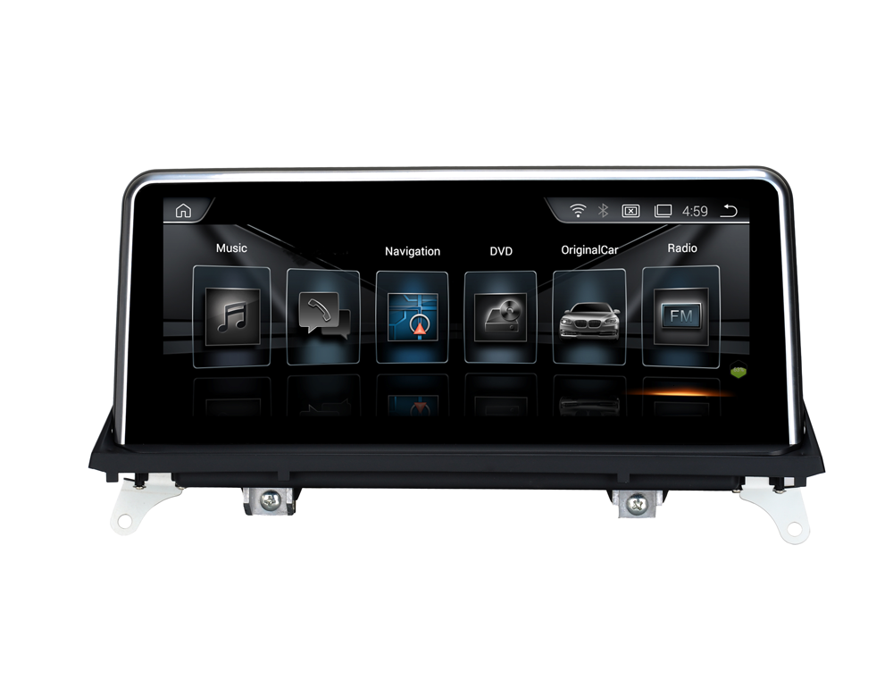 Android sistema do carro DVD player de rádio Para BMW X5 E70 10/X6 E71 (2011-2013) sistema 8 core RAM4 64G