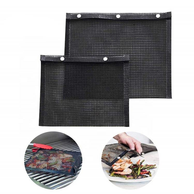 Reusable Heat Resistant PTFE Barbecue Baking BBQ Grill PTFE Mesh Bag