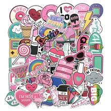 Wholesale girl cute lovely 60pcs pack laptop sticker,luggage decal sticker