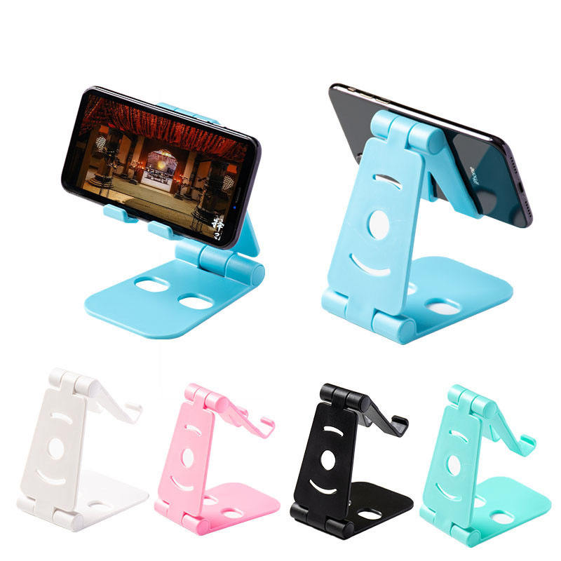 Factory Cheap Single Folding Desktop Tablet Multifunctional Stand Plastic Cell Phone Holder