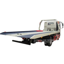 China 6 wheeler slide tilet roll back car carrier 3 ton self loader flat low bed tow truck